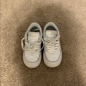 Toddler White Air Force 1's